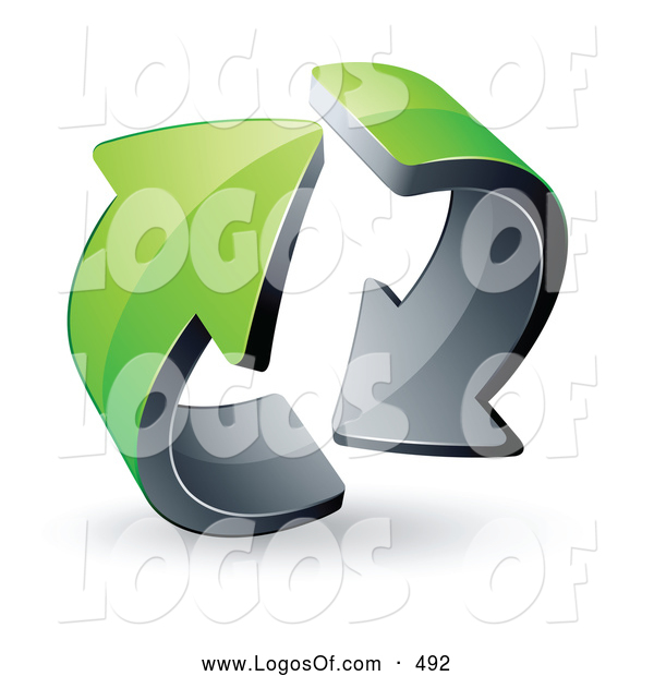 Logo Vector of a Pre-Made Logo of a Pair of Circling Green Arrows