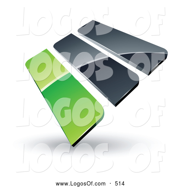 Logo Vector of a Pre-Made Logo of Green and Gray Bars on White
