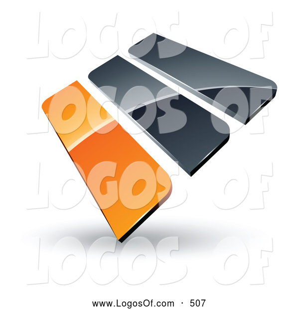 Logo Vector of a Pre-Made Logo of Orange and Gray Bars on White