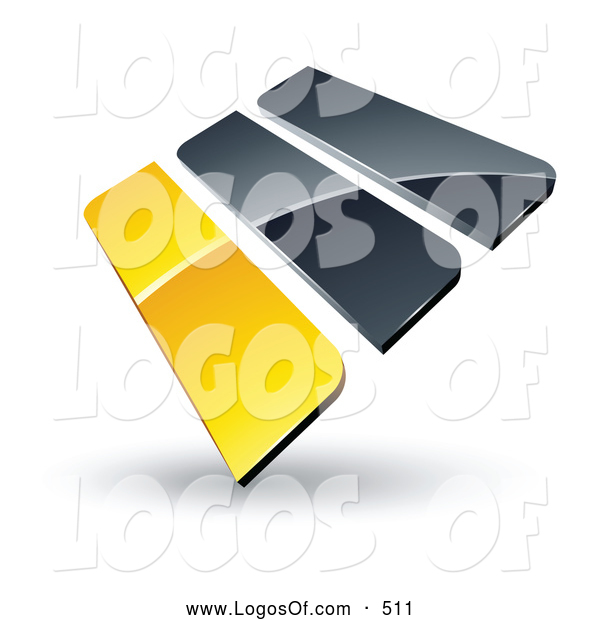 Logo Vector of a Pre-Made Logo of Yellow and Gray Bars on White