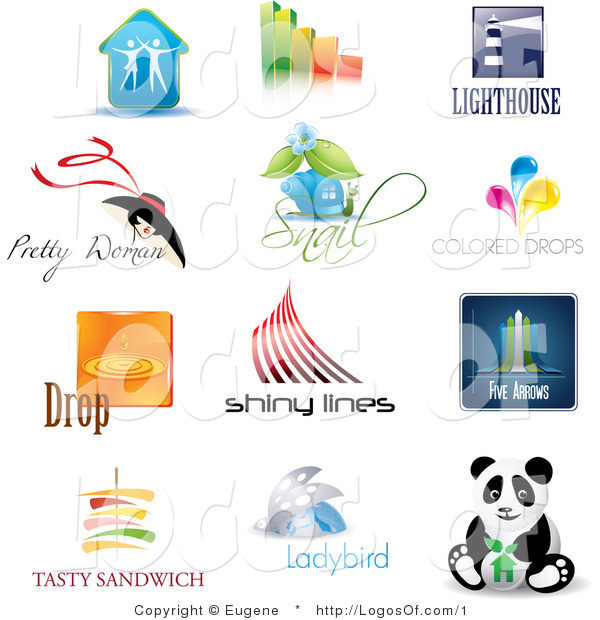 Logos of Business and Animal Icons