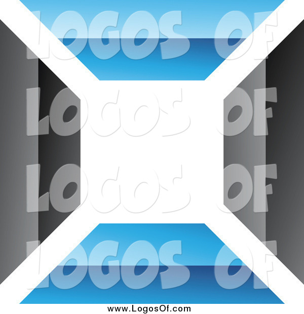 Vector Clipart of a Blue and Black Wall Logo