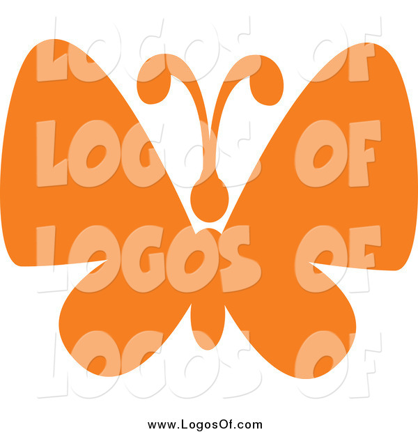 Vector Clipart of a Orange Butterfly Logo