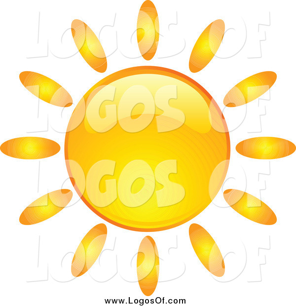Vector Clipart of a Shiny Orange Summer Sun