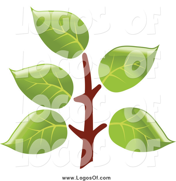 Vector Clipart of a Tree Branch Logo
