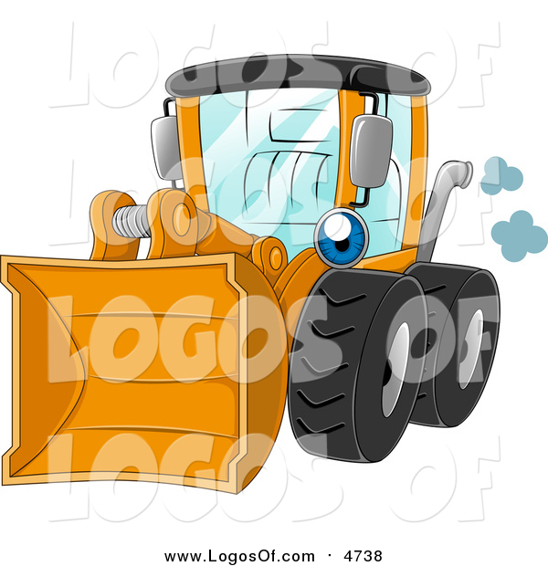Vector Clipart of a Yellow Wheel Loader Logo
