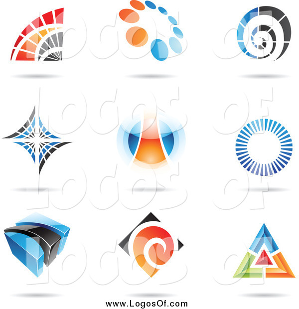 Vector Clipart of Abstract Logos