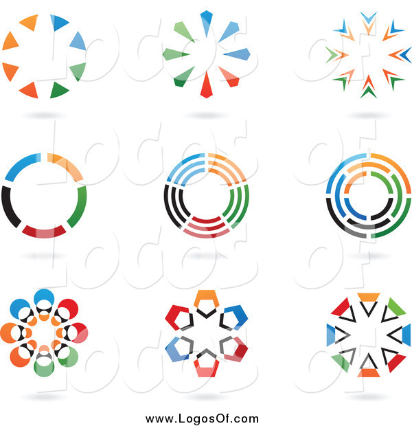 Vector Clipart of Colorful Circular Logos