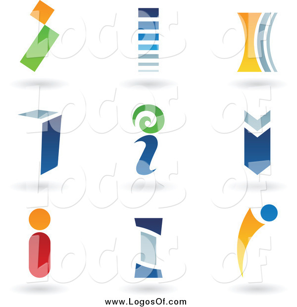 Vector Clipart of Letter I Logos