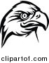 Vector Clipart of a Eagle Head Logo in BW by Vector Tradition SM