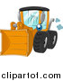 Vector Clipart of a Yellow Wheel Loader Logo by BNP Design Studio