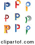 Vector Clipart of Letter P Logos by Vector Tradition SM