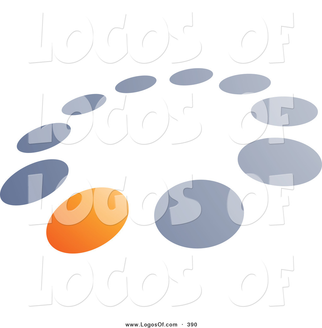 Logo Vector of a Pre-Made Logo of One Orange Dot in a Circle