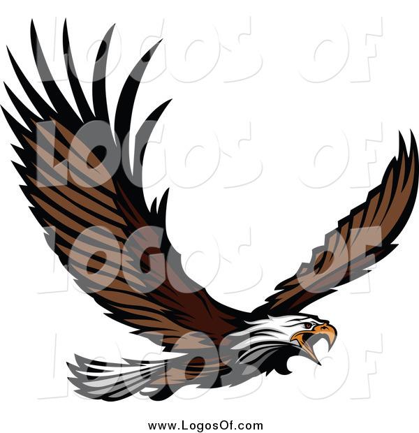 vector clipart of a bald eagle flying logo by chromaco 6267 rh logosof com philadelphia eagles logo clip art free harley davidson eagle logo clip art